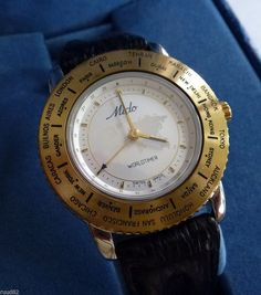 MIDO Worldtimer wristwatch - unused - with MIDO box - perfect MINT condition