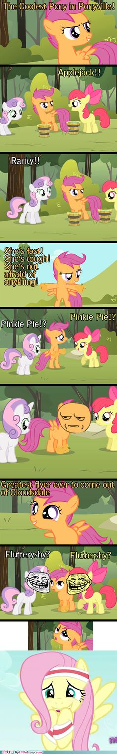 come on guys think! you should have said Fluttershy at first when she asked the question! no I'm just kidding it's Rainbow Dash.