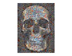 Skull Heart Collage Print Signed by Eric Telchin