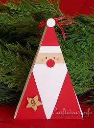 25dd99c6db6ea Navidad manualidades - artesanías de papel - Santa Claus estuche