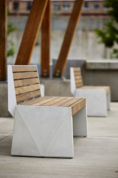 Strata Beam Bench by Jess Sorel. More info at: http://www.landscapeforms.com/en-us/products/pages/STRATACollection.aspx
