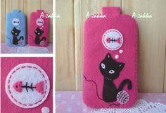 Mobile Bag Kitty Pink