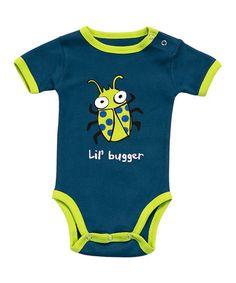 Look at this #zulilyfind! Navy & Lime 'Lil' Bugger' Bodysuit - Infant #zulilyfinds