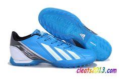 cheaper 2e42e c750a Adidas F50 Adizero TF Football Boots - Blue White Black  54.05 Zapatos De  Fútsal, Zapatos