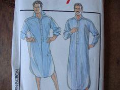 Vintage Men's Sleepwear Pattern Size Medium by PIRANHAREPUBLIC, $5.00