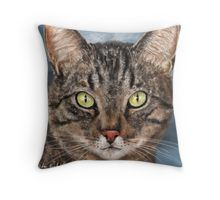 My #cat painting on a throw #pillow - so cute! Get it on other products as well.  #art #catart #catlovers #portrait #painting #furry