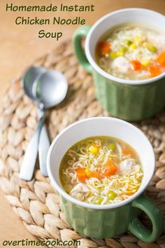 Homemade Instant Chicken Noodle Soup | overtimecook.com (scheduled via http://www.tailwindapp.com?utm_source=pinterest&utm_medium=twpin&utm_content=post1023641&utm_campaign=scheduler_attribution)