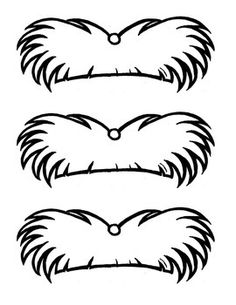 As an activity for Dr. Suess Week or Earth Day, here's a Lorax Mustache Template. :) Hand drawn and digitally duplicated.