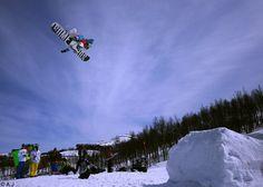 Flying snowboard