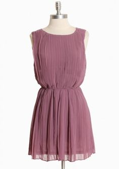 whispering lilac pleated dress - cute for one of the bridesmaids.