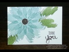 Easy way to line up the Stampin' Up! Flower Fair Framelits to the Flower Patch stamped images - YouTube