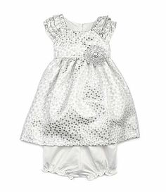 144160461 Laura Ashley London 1224 Months Ruffled Brocade Dress #Dillards