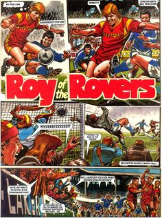 Roy's Challenge News Stories, Comic Character, My Childhood, Comics, Challenge, British, Characters, Soccer Players, Party