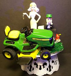 New john deere wedding cake topper with wedding couple | John deere ...