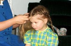Traditionally, young Hutterite girls' hair were braided in the front and back.