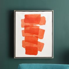 You'll love the Framed Painting Print on Canvas in Orange at AllModern - With Great Deals on modern Décor  products and Free Shipping on most stuff, even the big stuff.