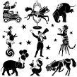 circus characters | Stock Illustration | iStock