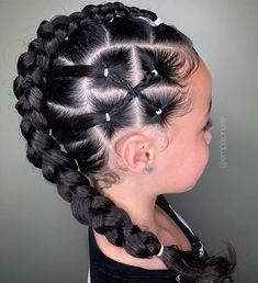 Lil Girl Hairstyles, Kids Braided Hairstyles, Box Braids Hairstyles, Toddler Hairstyles, Mixed Kids Hairstyles, Hairstyles For Black Kids, Toddler Hair Dos, Choppy Hairstyles, Princess Hairstyles