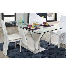 Exceptionnel Table RECTANGULAIRE PLATEAU EN VERRE