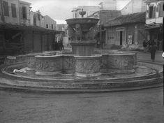 Heraklio , Creta , October 1941 by Weigt Ernst Heraklion, Crete, Statue Of Liberty, Vintage Photos, Fountain, The Past, Architecture, Places, Travel
