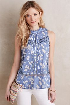 Laced Swing Tank #anthropologie