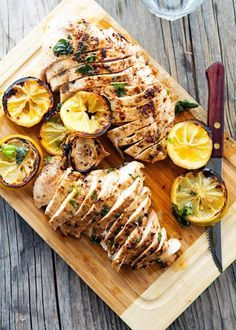 Spicy Basil Lemon Chicken - this didn't really have cooking instructions but I ended up just pan frying it and it turned out delicious! Great Recipes, Dinner Recipes, Dessert Recipes, Cooking Recipes, Healthy Recipes, Delicious Recipes, Oven Recipes, Pudding Recipes, Potato Recipes