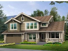Eplans Craftsman House Plan - Compact Footprint with Daylight Basement - 3487 Square Feet and 3 Bedrooms from Eplans - House Plan Code HWEPL14935