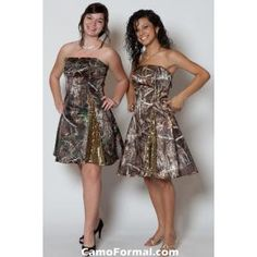 camo bridesmaids dresses