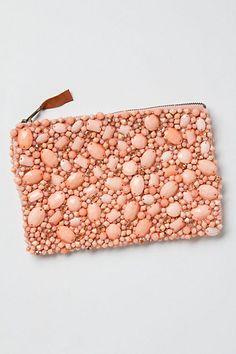 jewel in the rough clutch in rose pink