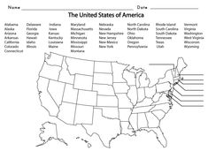 USGeography Unit Informational Texts Maps Activities Regions - Blank us map to label