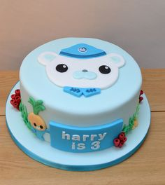 Octonauts cake. The boy child would be insanely happy with this.