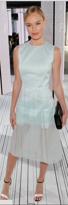 Who made  Kate Bosworth's blue dress and jewelry that she wore in New York on September 10, 2014