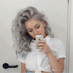 Cheap Brazilian Human Hair Sliver Grey Wigs With Baby Hair Loose Wave Lace Frontal Pure Grey Color Glueless Full Lace Wig 130% Density Wowafrican Wigs Brazilian Virgin Hair Full Lace Wigs From Avon_hair, $116.68| Dhgate.Com