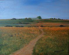 Namaqualand Landscape, painted by Hannes Scholtz
