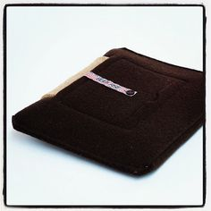 iPad Sleeve Dark Brown/Sand  wool felt iPad 2 iPad 3 by Bookase, $70.00