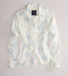 AE Printed Denim Shirt