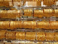 All that Glitters is Gold!  Window shopping in Dubai's Gold Souk