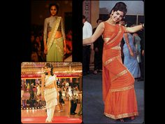 """Ladies - would you wear your saree Mumtaaz style? Do checkout the designer saree collection on www.anokherang.com and and add sparkles to your glam quotient ! As they say in the fashion world ---- """"Fashions fade, style is eternal."""""""