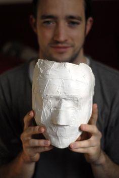 ur own plaster mask!cool