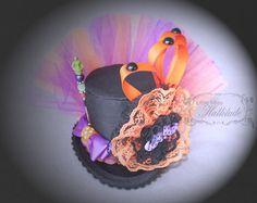Girls Witch Hat   Halloween Hat  Mini Top by LittleMissHattitude, $45.00