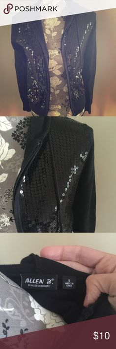 Sequin hoody Really fun and comfortable. Smoke free home. No stains. Sequins on the front only. All intact. Allen B Tops Sweatshirts & Hoodies