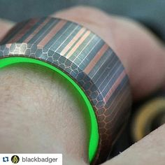 I'm at a loss for words here. This is incredible!!!!! If this is your first time hearing about @blackbadger stop and explore his page awesome craftsmanship and gear. Go give him a follow!  Repost @blackbadger with @repostapp  Huzzah! This new ring is milled from a solid slab of copper / niobium Superconductor. I call it Copperhead. The patterning is just spectacular in this material can't stop looking at it! A big shout-out to @coppercloudsc for the material advising. I'm not first person to…