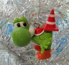 Super Mario Brothers 6 Piece Christmas Holiday Ornament Set Featuring Mario Shatterproof Ornaments Range From 1.5 to 3 Tall Toad and Princess Peach Toad and Princess Peach Luigi Shatterproof Ornaments Range From 1.5 to 3 Tall Yoshi Donkey Kong