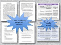 This product contains 3 TOEFL style reading passages with speaking and writing prompts, lesson plans, and grading rubrics. The articles are all about Ireland. These reading can be used together as a unit or separately. It's the perfect theme for March!Even if your students are not preparing for the TOEFL, the articles are great of ESL learners who want to improve their reading, writing, speaking, and listening skills.