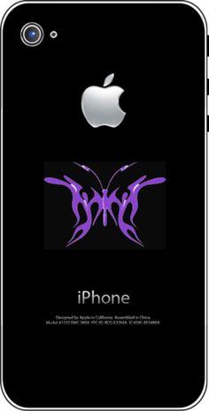 iTattoo.com: Blue Butterfly, iPhone Sticker Decals, $19.99