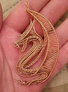 wire wrapped dragon pendant by 2wired on Etsy