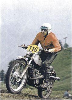 Müller l. Vincitore valli bergamasche 1970 su PUCH 125 ( San Pellegrino BG)