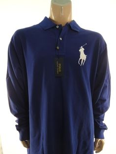 4e432a2b8 Polo Ralph Lauren Men s Big   Tall Long Sleeve Sleeve 100% Cotton Solid  Casual Shirts