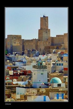 View to fortress (Kasbah), was built in 859 on de site of an earlier Byzantine fortress in Sousse, is a city of Tunisia, located south of Tunis.