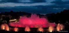 Dancing fountains in red   Flickr - Photo Sharing!